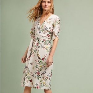 Anthropologie Avian Kimono midi dress